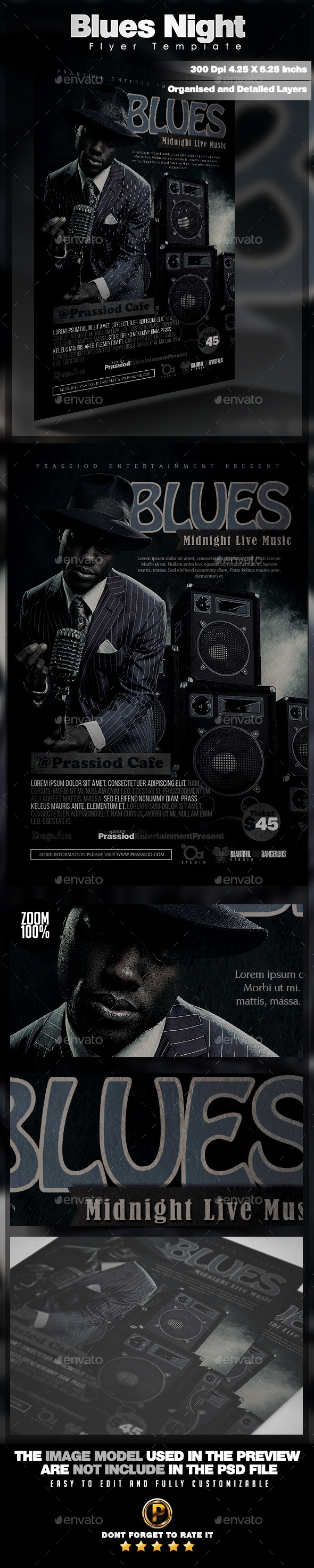 Blues Night Flyer Template - Concerts Events