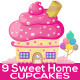 Cupcake houses  - GraphicRiver Item for Sale