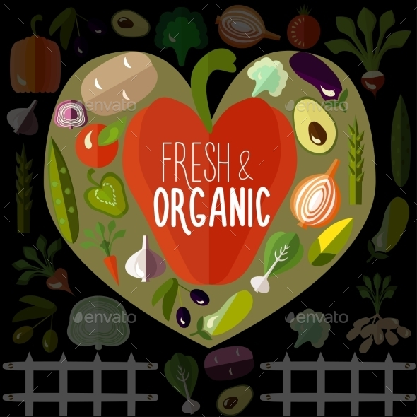 Fresh And Organic Vegetables - Food Objects