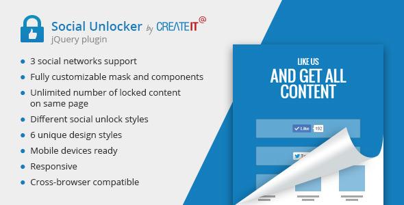 jQuery Social Unlocker  - CodeCanyon Item for Sale