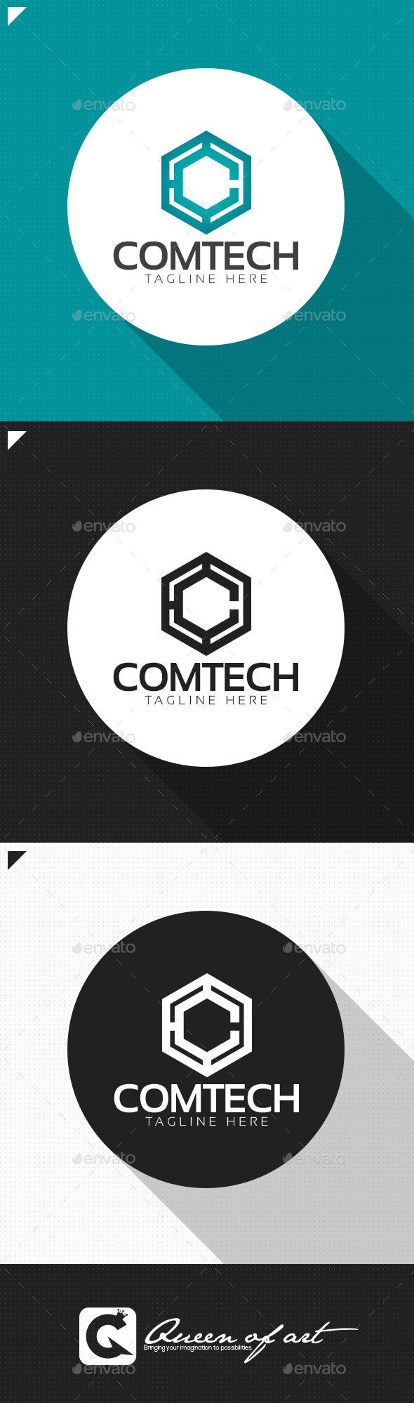 Comtech Logo - Letters Logo Templates