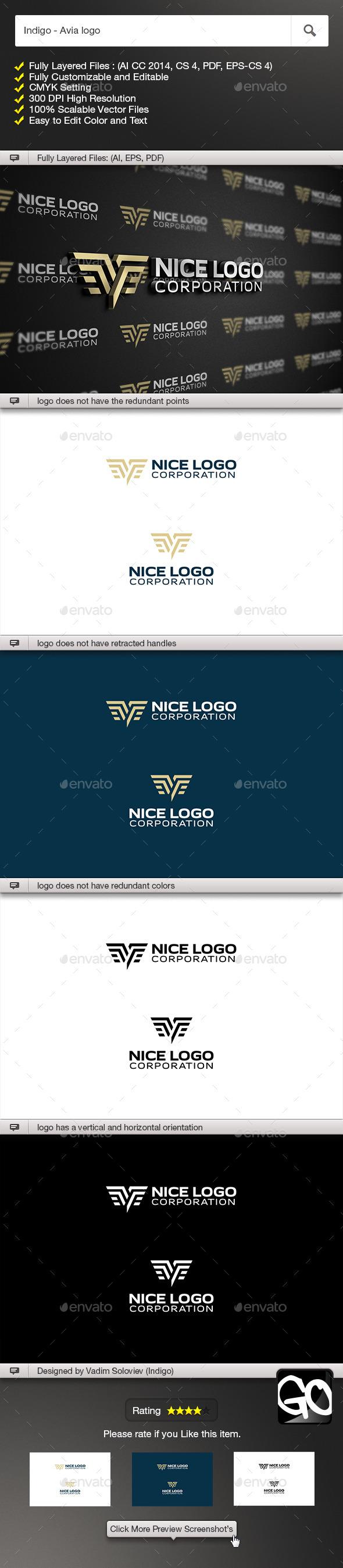 Indigo - Avia logo - Symbols Logo Templates