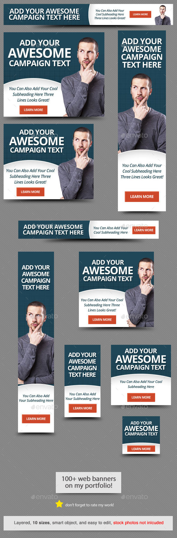 Corporate Web Banner Design Template 63 - Banners & Ads Web Elements
