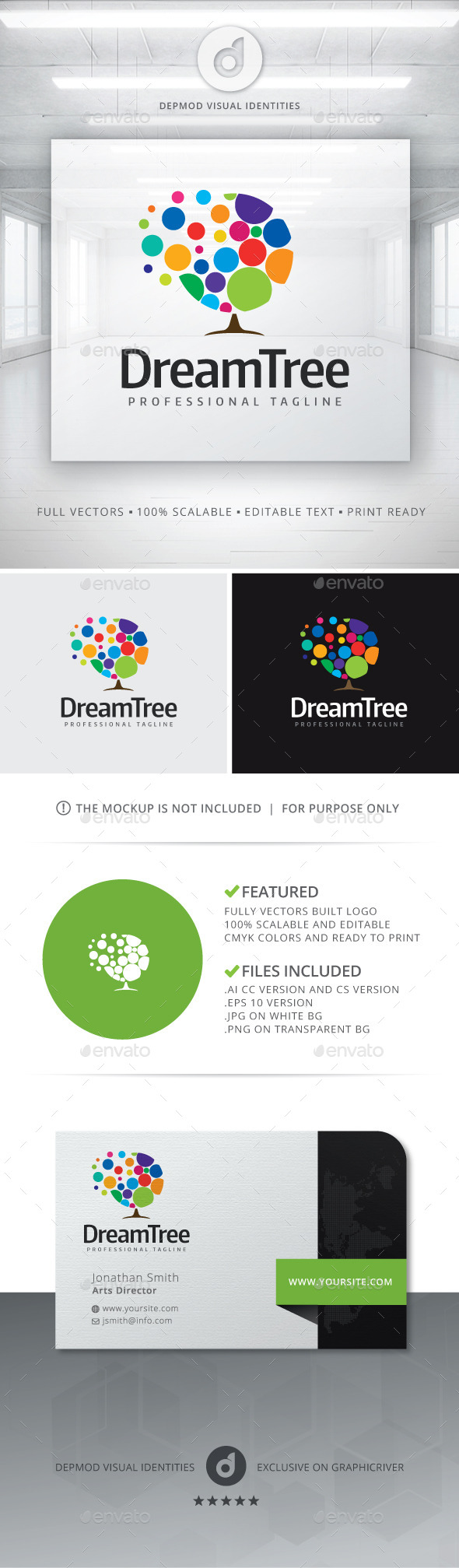 Dream Tree Logo - Nature Logo Templates