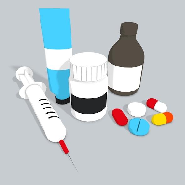 pharmacy goodies - 3DOcean Item for Sale