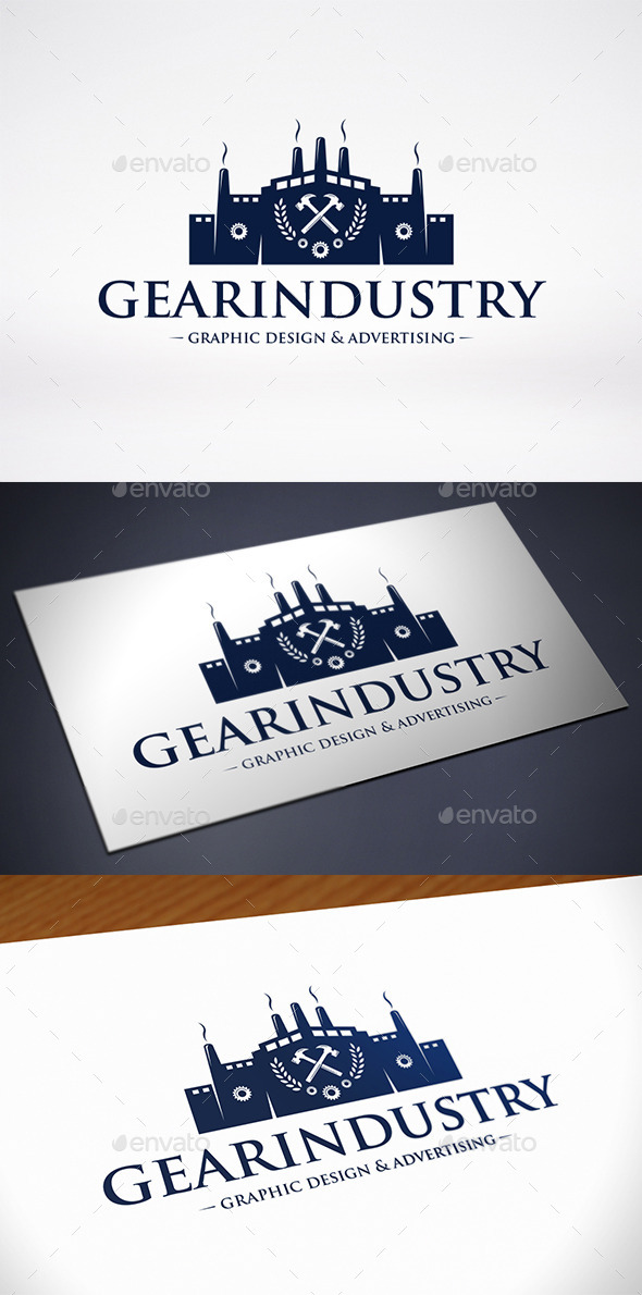 Gear Industry Logo Template - Buildings Logo Templates