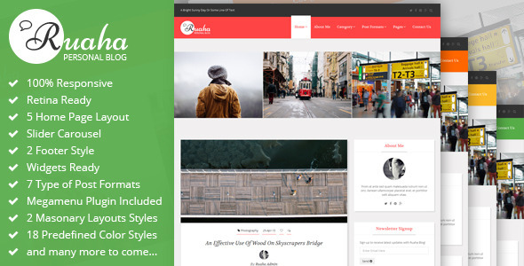 Ruaha : Personal Blog Bootstrap Template