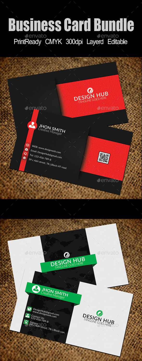 Business Card Template Bundle - Business Cards Print Templates