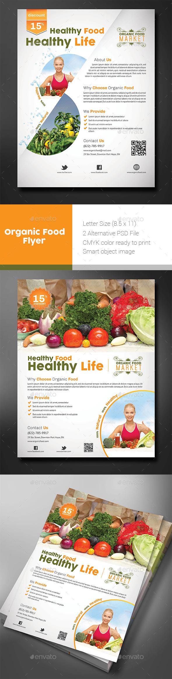 Organic Food Store Flyer - Flyers Print Templates