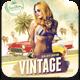Vintage Summer Flyer Template - GraphicRiver Item for Sale