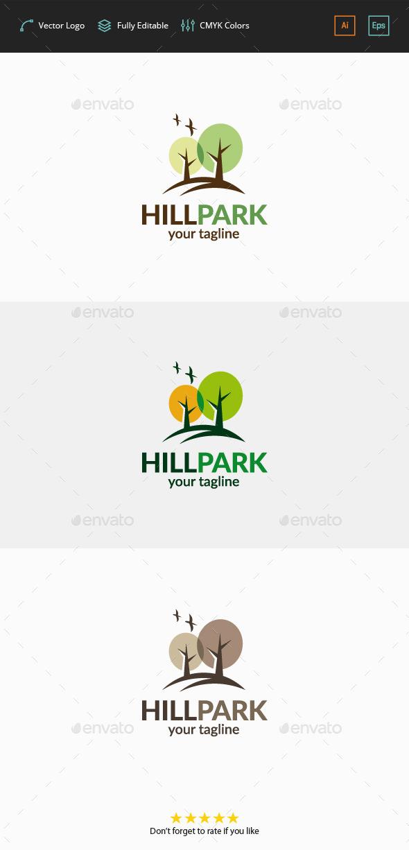 Hill Park Logo - Nature Logo Templates