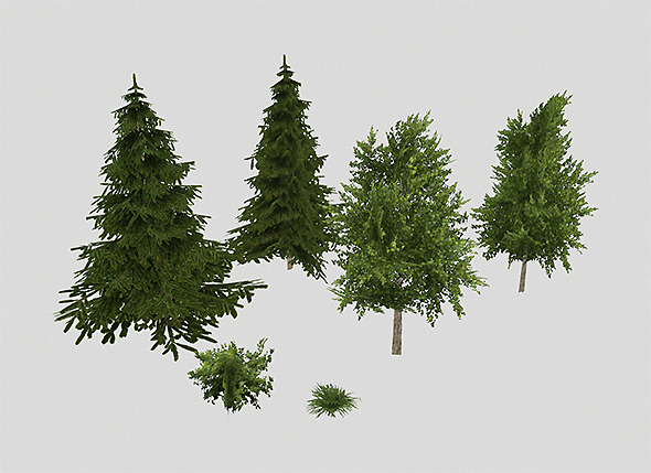 Park plants  - 3DOcean Item for Sale