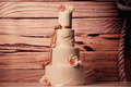 4tier marzipan wedding cake - PhotoDune Item for Sale