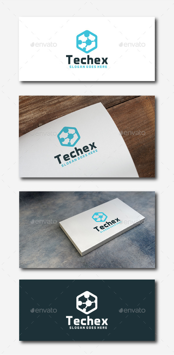 Tech Hexagon Logo - Abstract Logo Templates