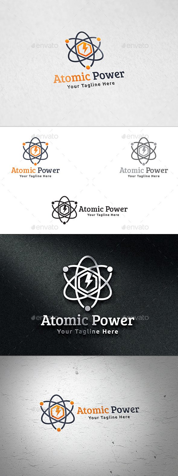 Atomic Power - Logo Template - Symbols Logo Templates