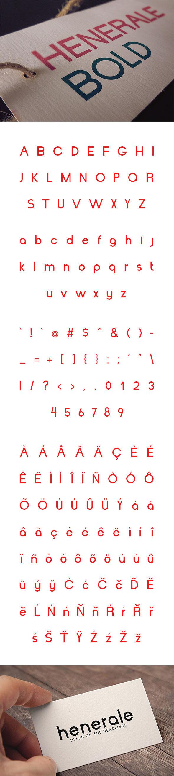 Henerale Bold - Sans-Serif Fonts