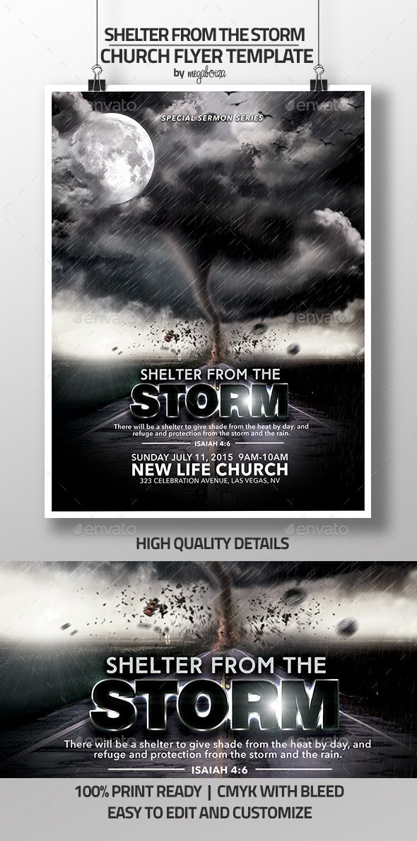 Shelter From The Storm Church Flyer/Program  - Church Flyers