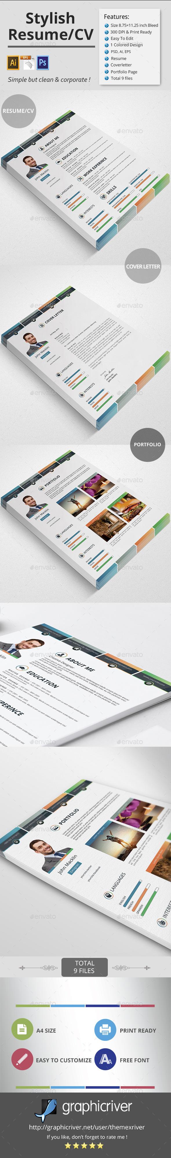 Stylish Resume/CV - Resumes Stationery