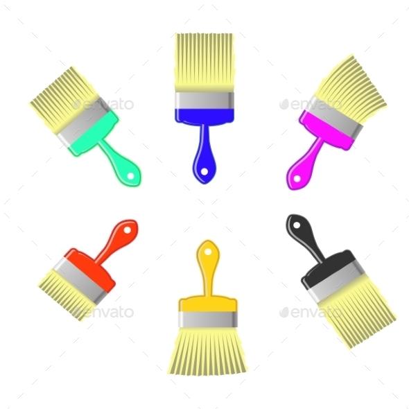 Paint Brushes - Decorative Symbols Decorative