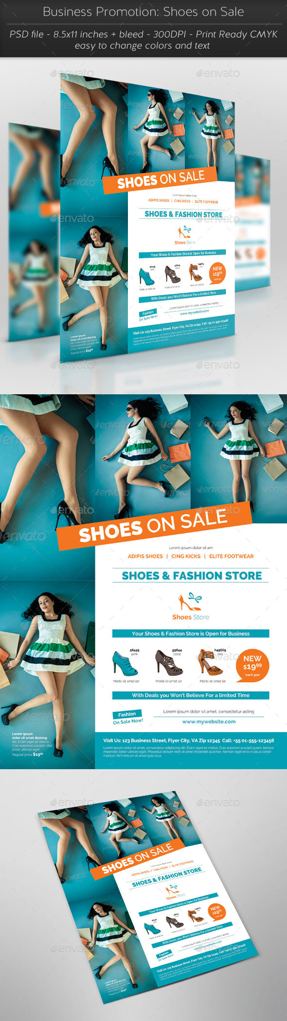 Business Promotion: Shoes on Sale - Commerce Flyers