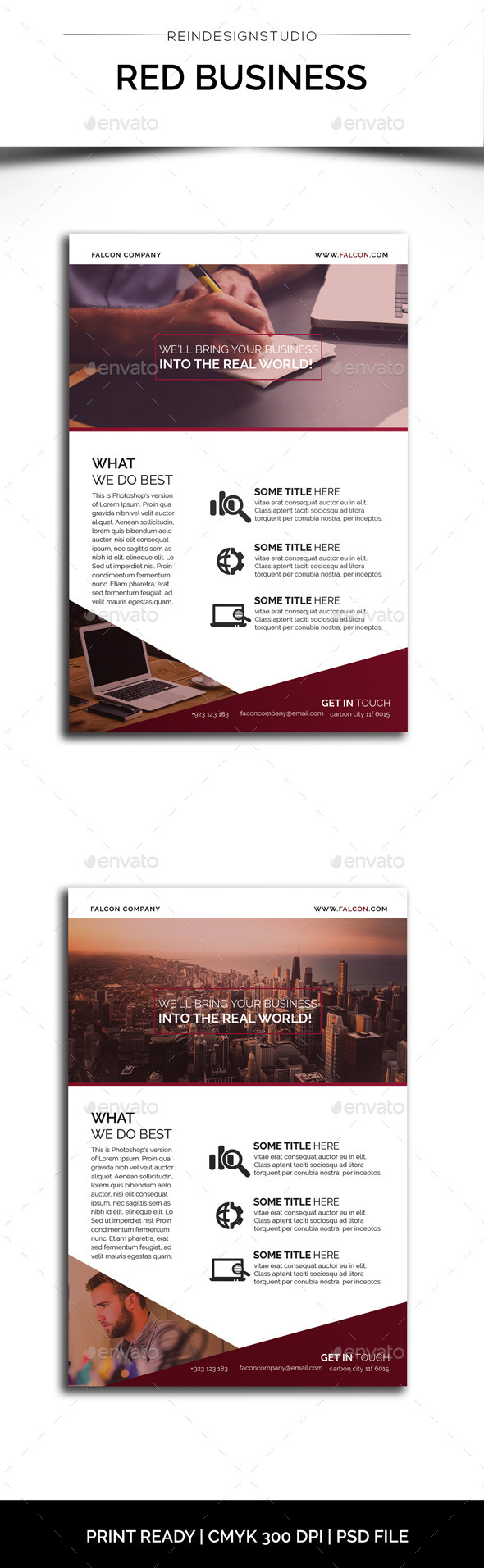 Red Business Flyer - Corporate Flyers