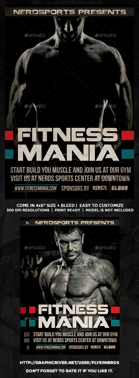 Fitness Mania Sports Flyer  - Sports Events