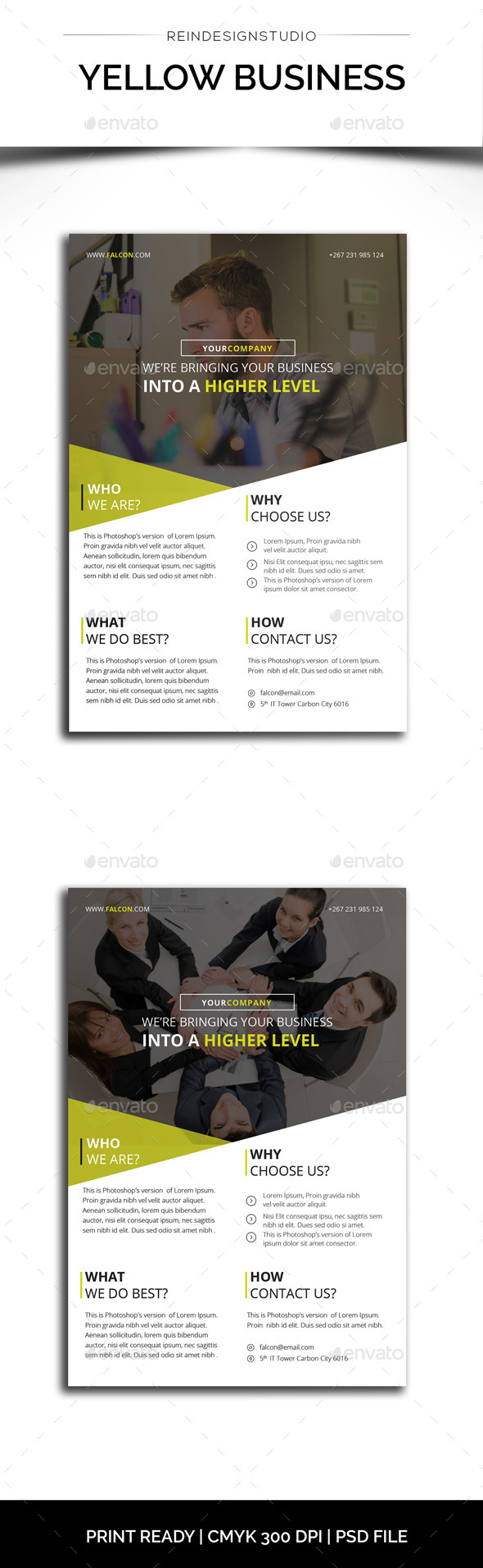 Yellow Business Flyer - Corporate Flyers