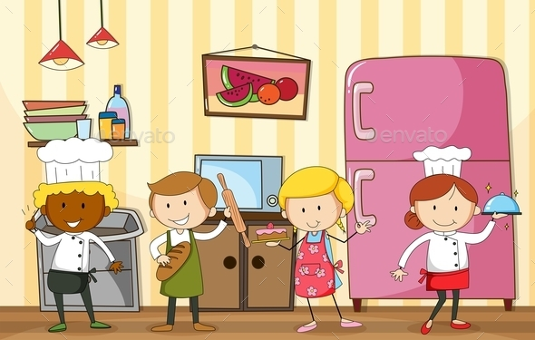 Baking and Cooking - People Characters