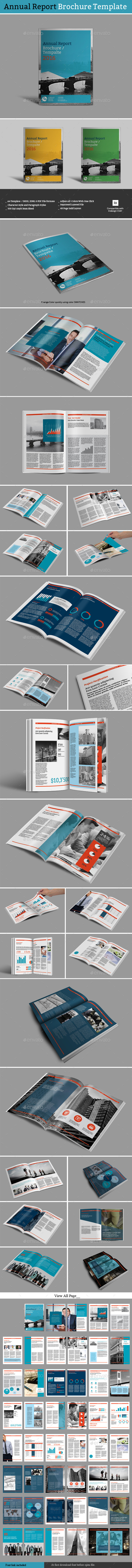Annual Report Brochure Template - Informational Brochures