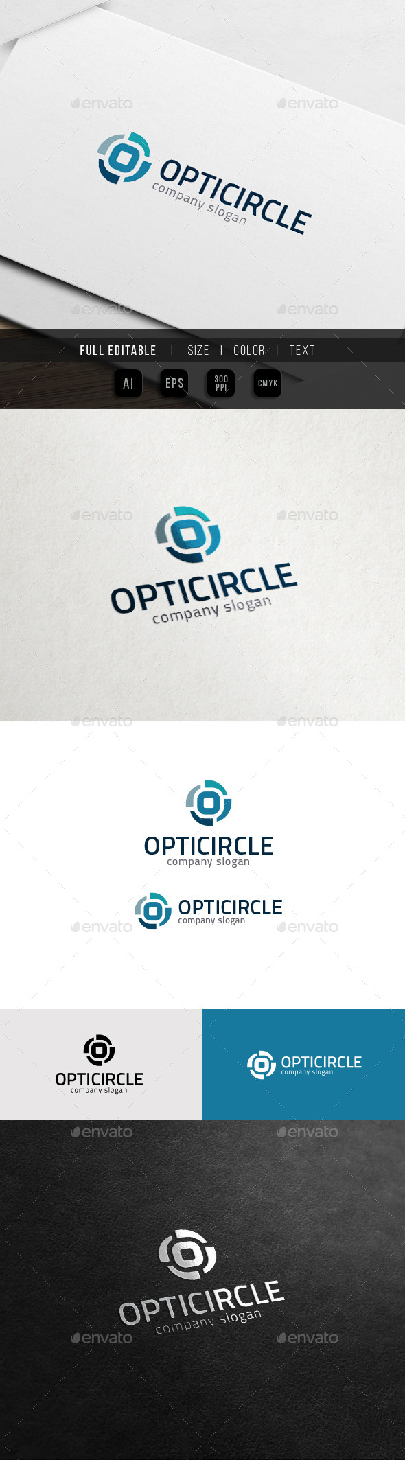 O Logo - Optic Focus - Circle Share - Letters Logo Templates