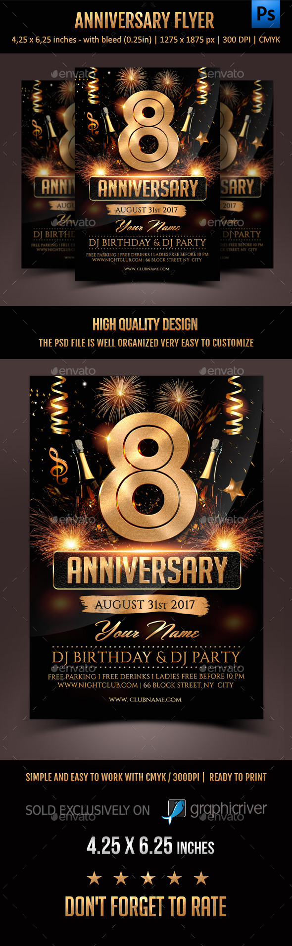 Anniversary Flyer by Rembassio | GraphicRiver