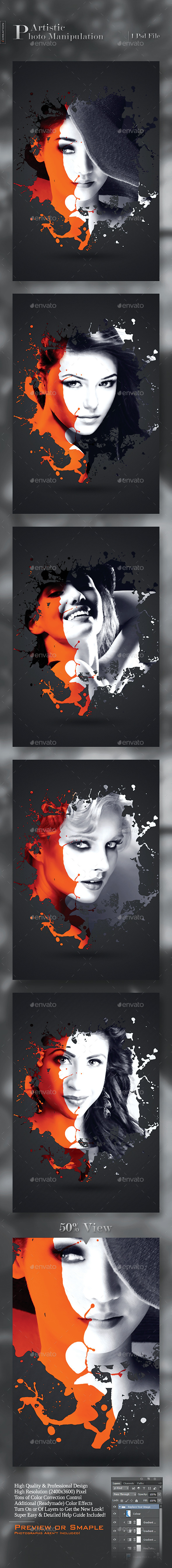 Artistic Photo Manipulation - Photo Templates Graphics