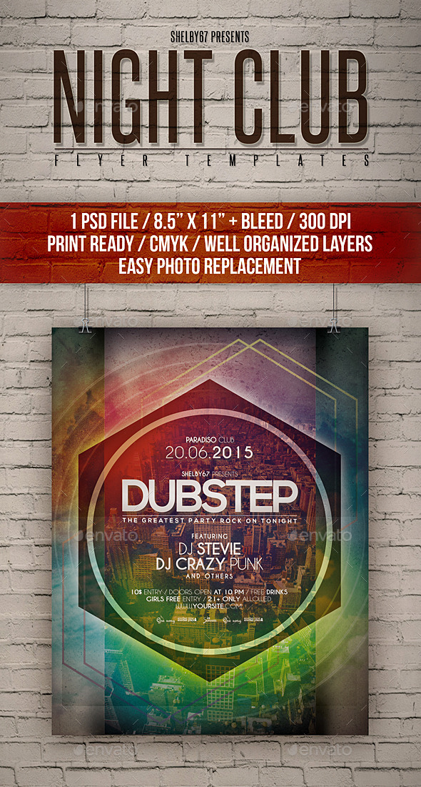 Night Club Flyer Templates - Clubs & Parties Events