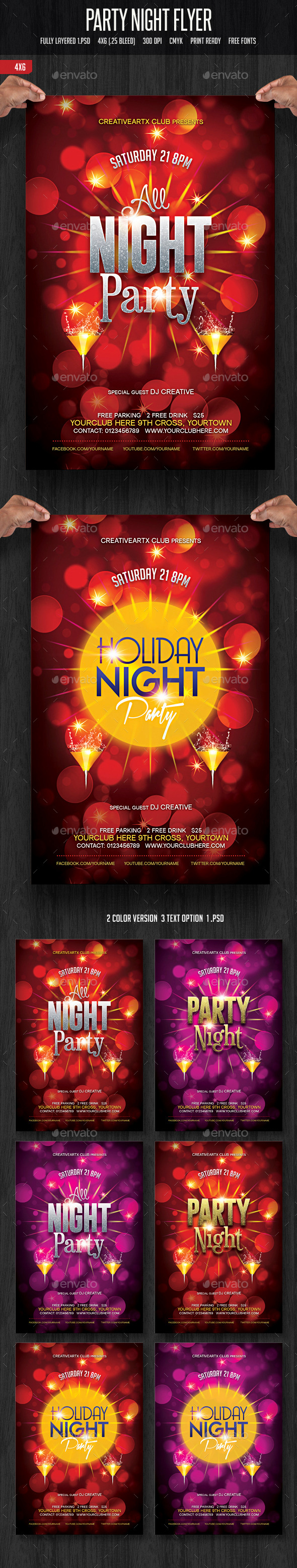 Party Night Flyer - Clubs & Parties Events
