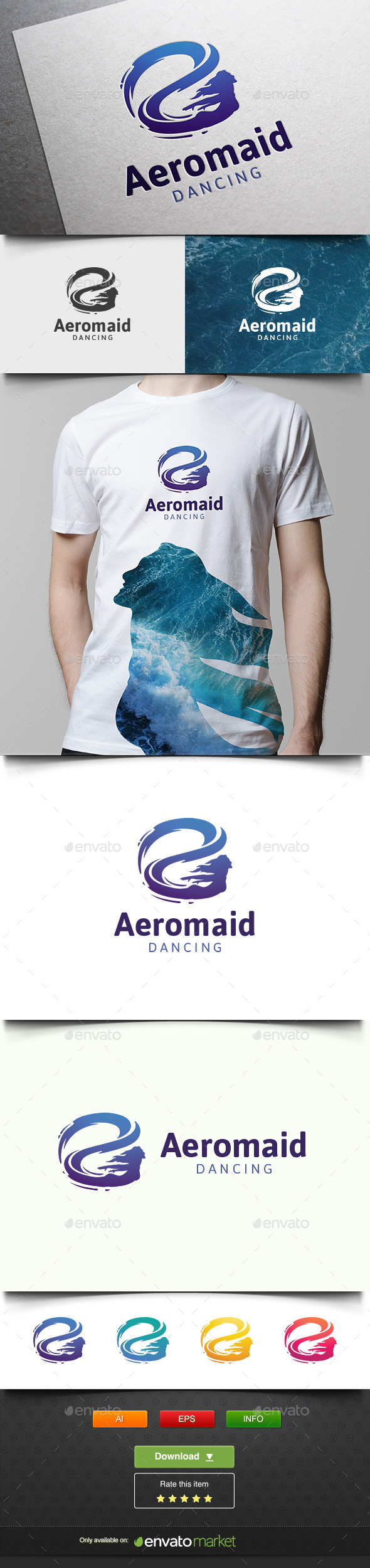 Aeromaid - Humans Logo Templates