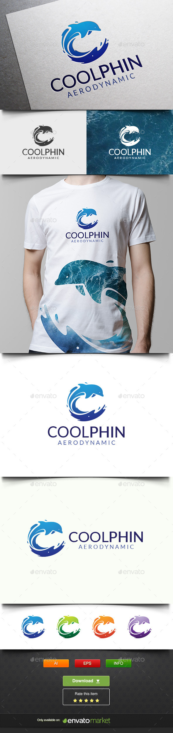 Coolphin - Animals Logo Templates