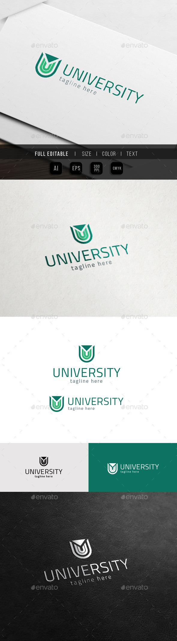 U Logo - University Universe - Letters Logo Templates