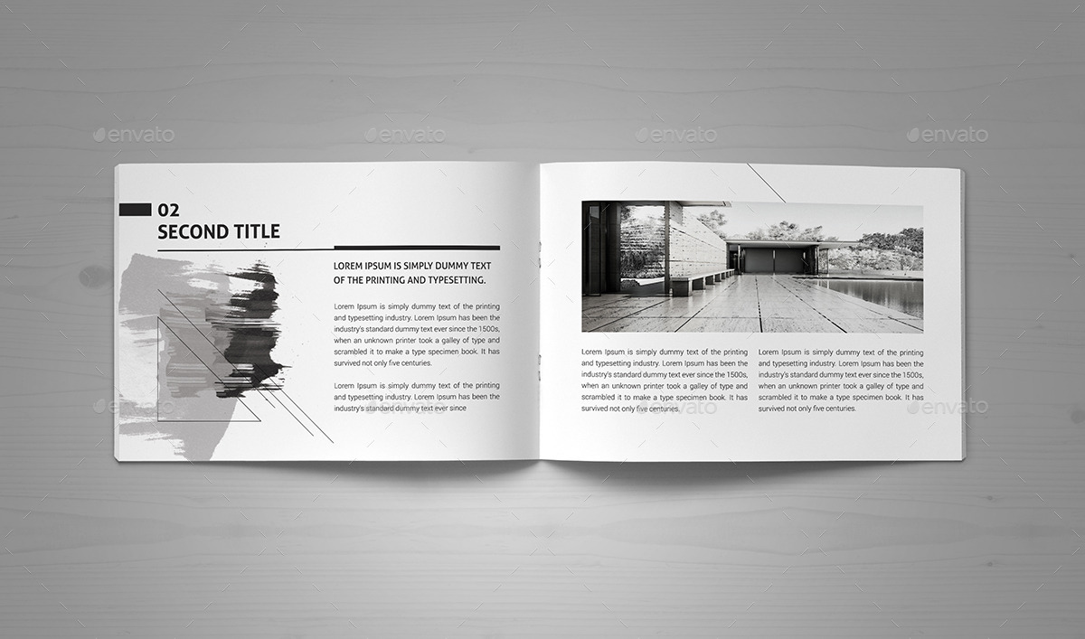 Minimal Modern Black Amp White Architecture Brochure By Pro
