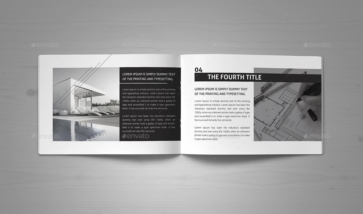 minimal modern black white architecture brochure by pro gh