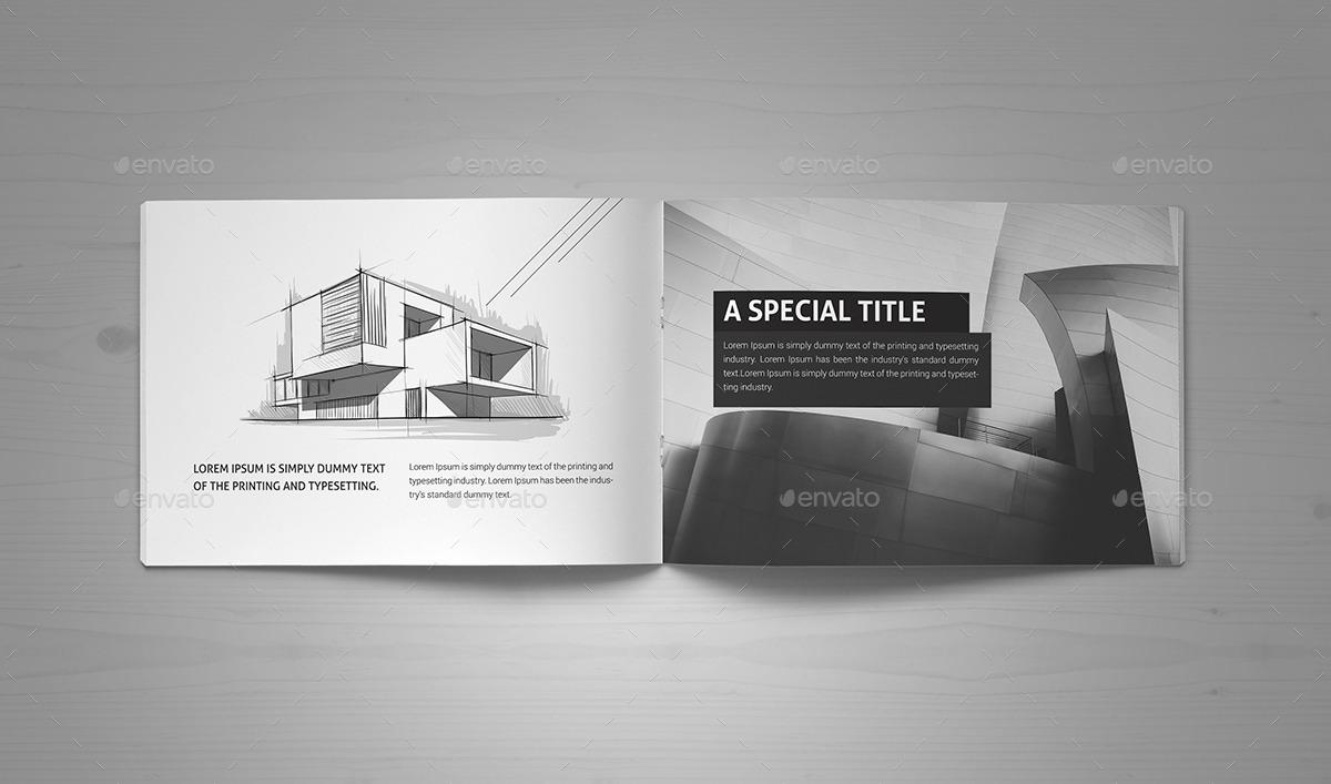 Minimal Modern Black Amp White Architecture Brochure By Pro