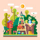 Summer In The Garden - GraphicRiver Item for Sale