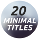 20 Minimal Titles & Lower Thirds - VideoHive Item for Sale