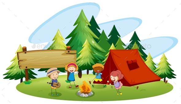 Camping - People Characters