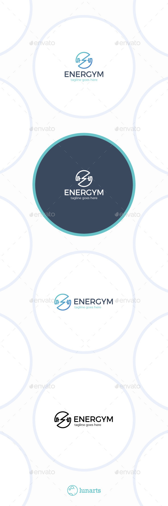 Energy Gym Logo - Power Circle - Symbols Logo Templates