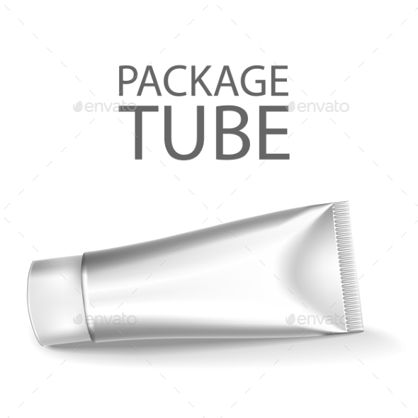 Blank Cosmetics Packages, Tube Template - Objects Vectors
