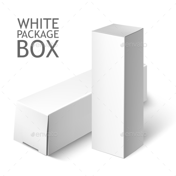 Set Of White Package Box. Mockup Template  - Objects Vectors