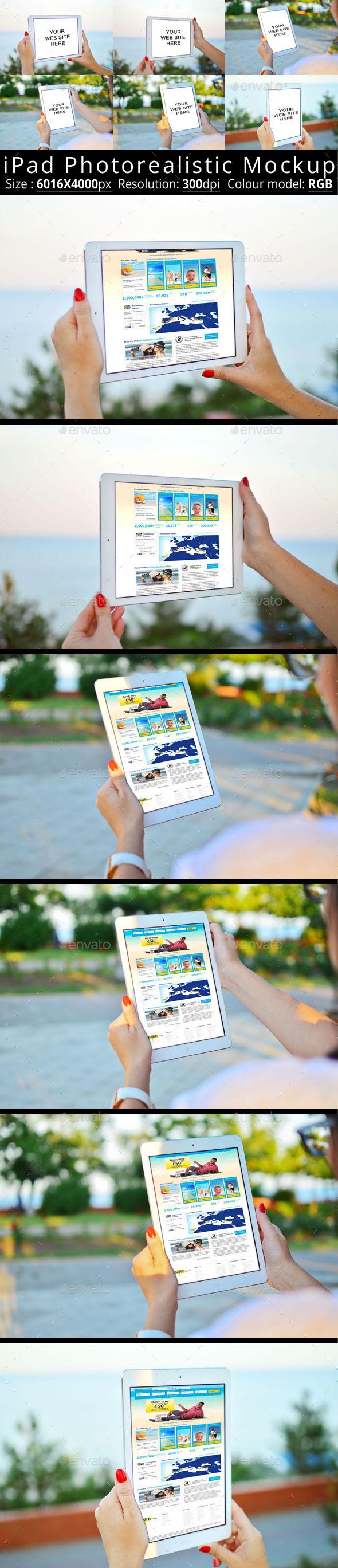 iPad Photorealistic Mock-Up - Mobile Displays