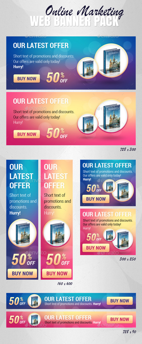 Online Marketing - Web Banner Pack - Banners & Ads Web Elements