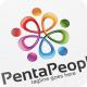 Penta People - Logo Template - GraphicRiver Item for Sale