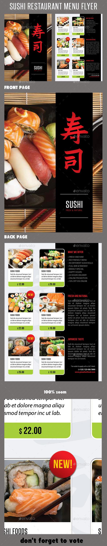 Sushi Restaurant Menu Flyer V05